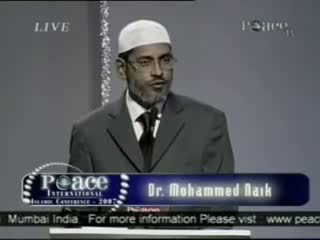 Dr. Zakir Naik - Peace Conference 2007 - Is Qur'an God's Word  Part 1-21