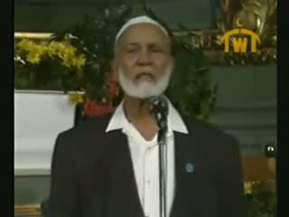 Is Jesus God  Debate between Ahmed Deedat (Muslim) VS Paster Sjoberg (Christian) 4 of 11