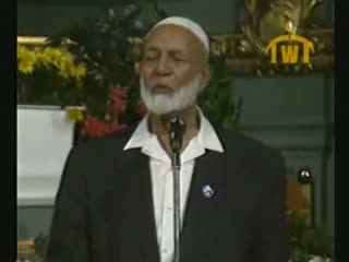 Is Jesus God  Debate between Ahmed Deedat (Muslim) VS Paster Sjoberg (Christian) 7 of 11