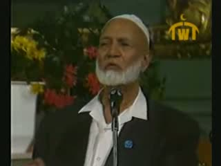 Is Jesus God  Debate between Ahmed Deedat (Muslim) VS Paster Sjoberg (Christian) 9 of 11