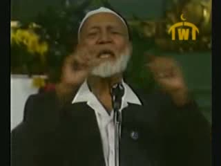 Is Jesus God  Debate between Ahmed Deedat (Muslim) VS Paster Sjoberg (Christian) 10 of 11