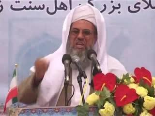 سخنرانی مولانا عثمان قلندرزهی در ختم بخاری 1391