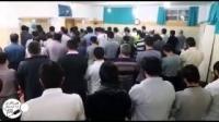خواندن نماز جنازه به صورت غیابی توسط زندانیان رجایی شهر بعد از اعدام 6 هم بند خود