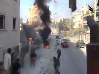 شجاعت ارتش آزاد سوریه در نجات یک زخمی