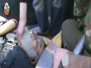 شهادت شیخ المجاهدین (ابوطیب-رحمه الله) که باو وجود سن بالا با نظام اسد می جنگید.