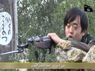 مشارکت یک چینی مجاهد در انقلاب لیبی و امروز نیز در انقلاب سوریه