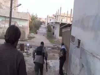 لحظه شهادت محمد حورانی (خبرنگار الجزیره) (1)