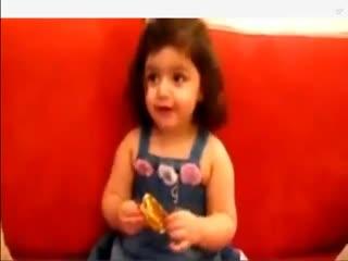 عکس العمل کودک سوری در مقابل شنیدن نام بشار و شیطان