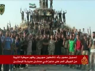 تسلط ارتش آزاد بر یک ایستگاه بازرسی در رستن سوریه