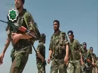 زیباترین آمادگی نظامی یک گروه از انقلابیون سوری