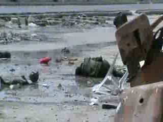 جسد نیروهای اسد در خیابان صلاح الدین حلب