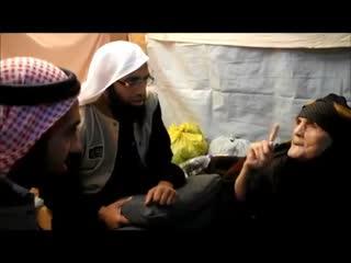 پیرترین پناهنده سوری قصیده ای برای هیئت سعودی می خواند و می میرد!