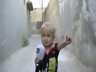 آواز طفل سوری: ای ایرانی به سگت اجازه بده!