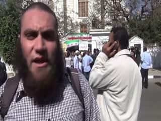 اعتراض سلفیون مصر به گسترش شیعه در مقابل سفارت ایران