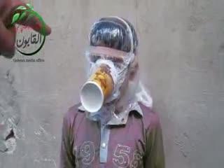 نیاز مادر اختراع است! ماسک شیمیایی!