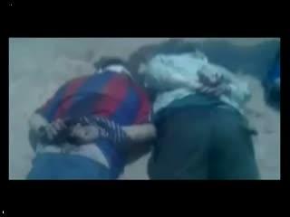 باندهای اسد 13 نفر را دست بسته اعدام می کنند